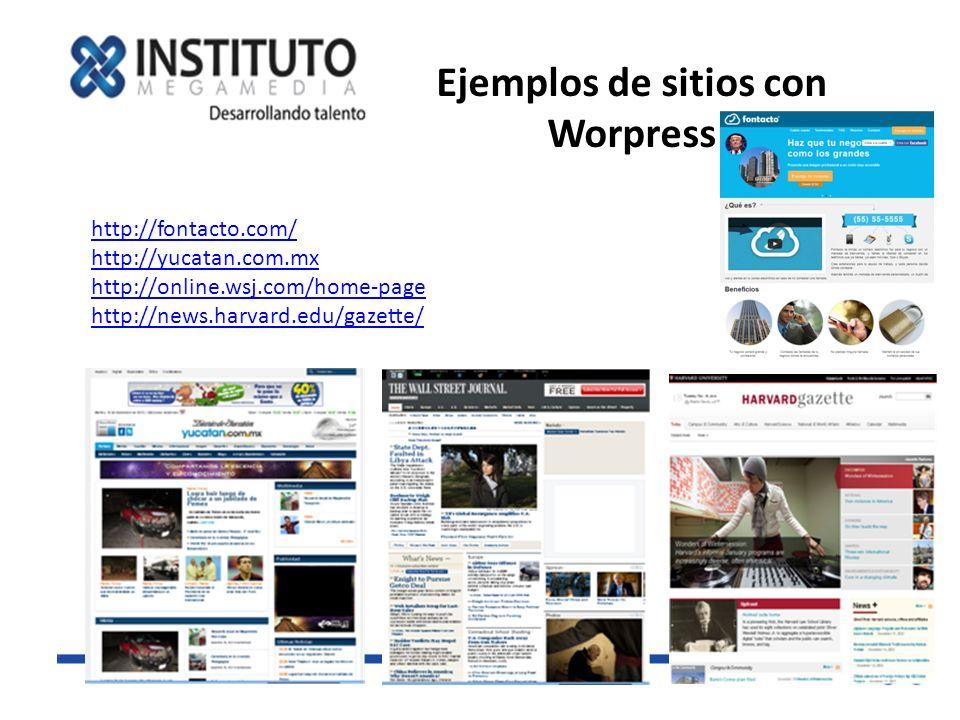 Ejemplos de sitios con Worpress