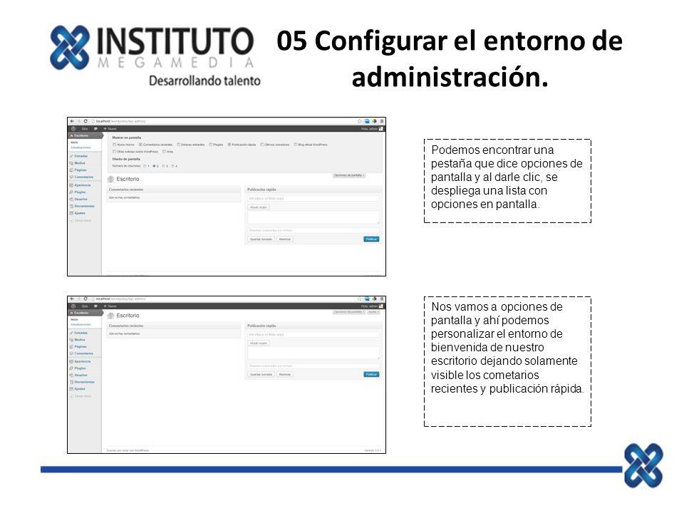 05 Configurar el entorno de administración.