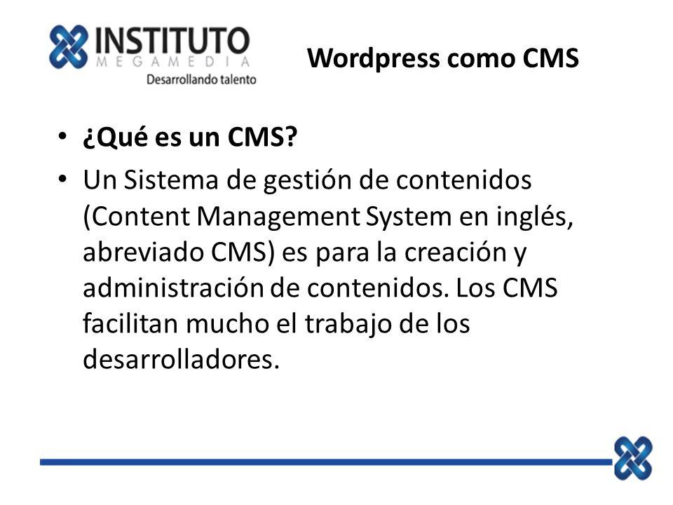 Wordpress como CMS ¿Qué es un CMS