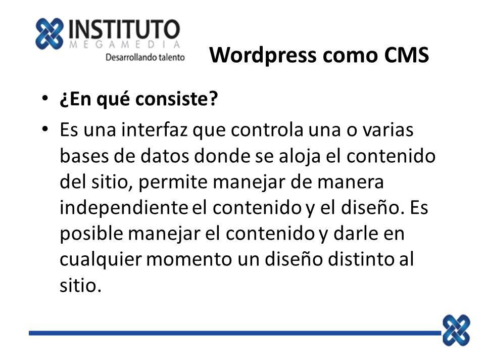 Wordpress como CMS ¿En qué consiste