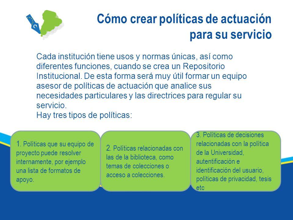 Cómo crear políticas de actuación para su servicio