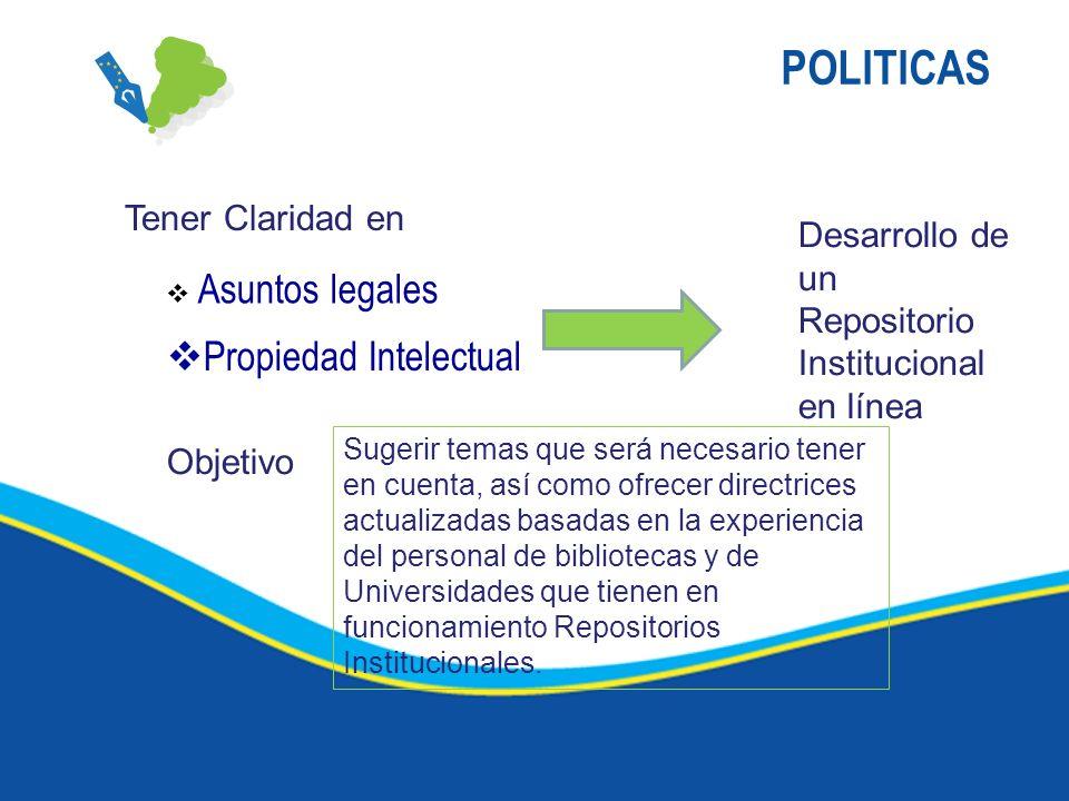 POLITICAS Propiedad Intelectual Tener Claridad en