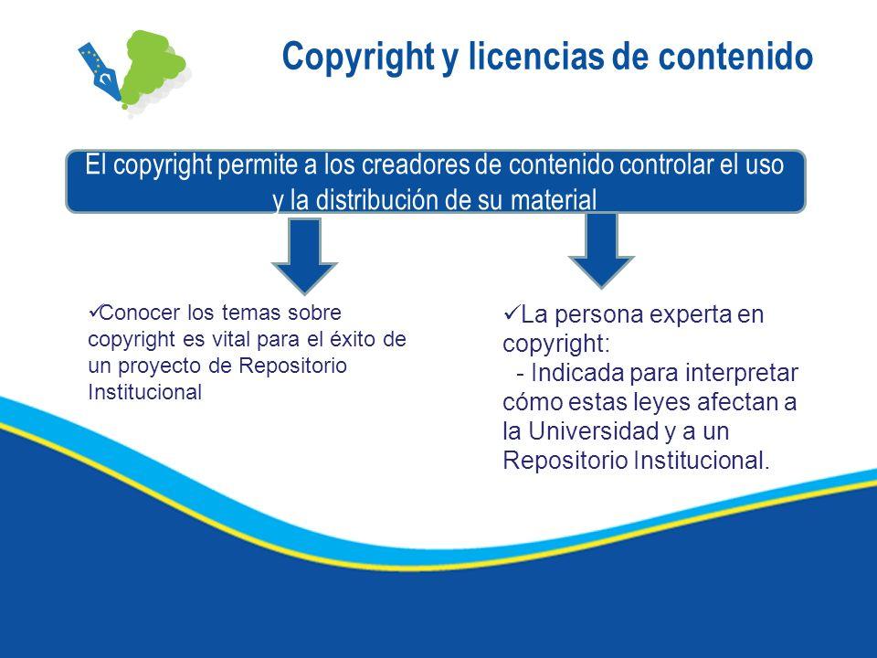 Copyright y licencias de contenido