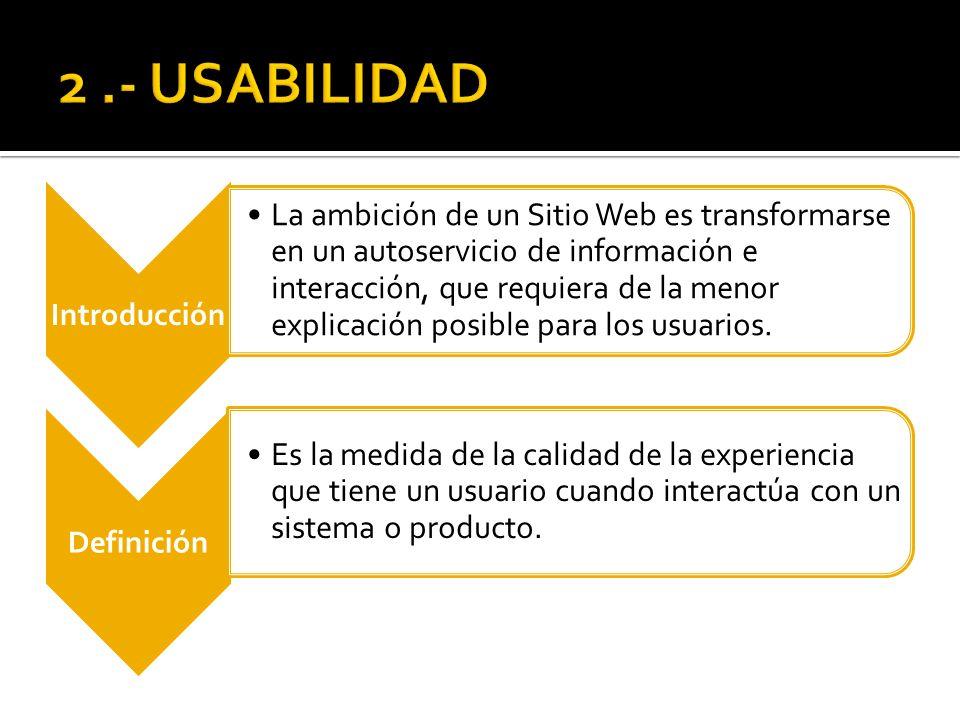 2 .- USABILIDAD Introducción.