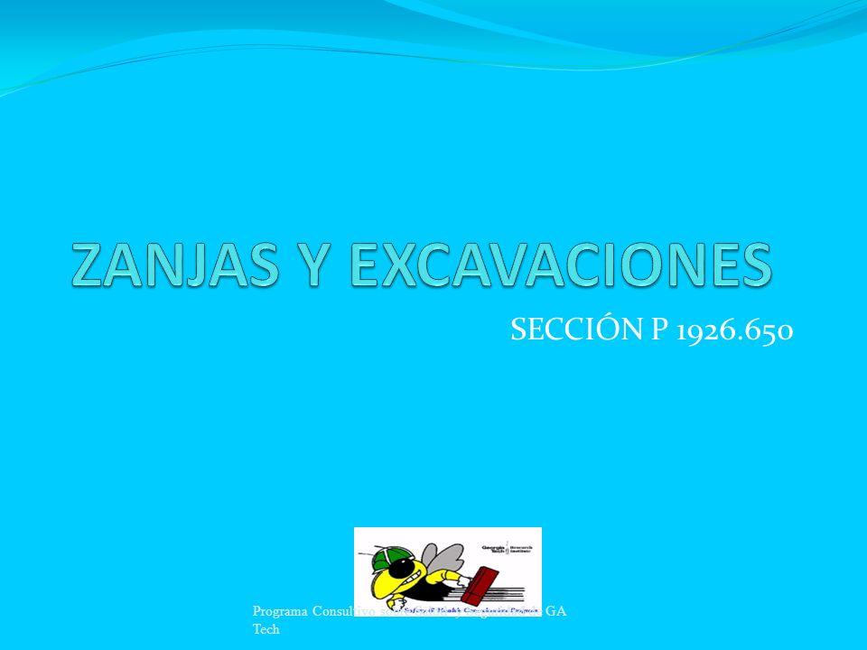ZANJAS Y EXCAVACIONES SECCIÓN P 1926.650