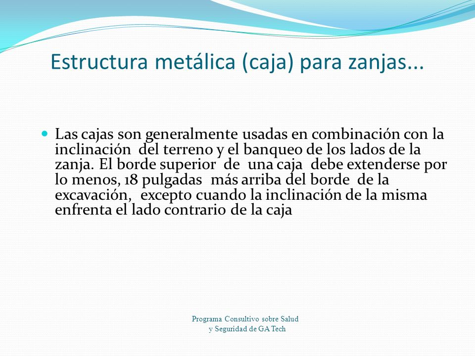 Estructura metálica (caja) para zanjas...