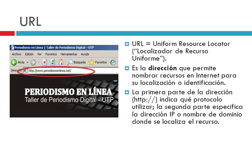 URL URL = Uniform Resource Locator ( Localizador de Recurso Uniforme ).