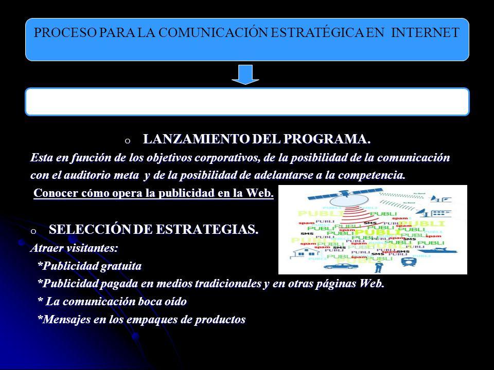 LANZAMIENTO DEL PROGRAMA.