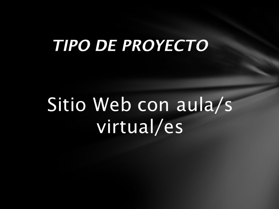 Sitio Web con aula/s virtual/es