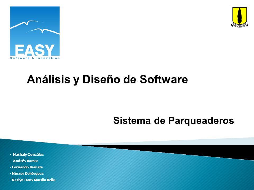 Análisis y Diseño de Software