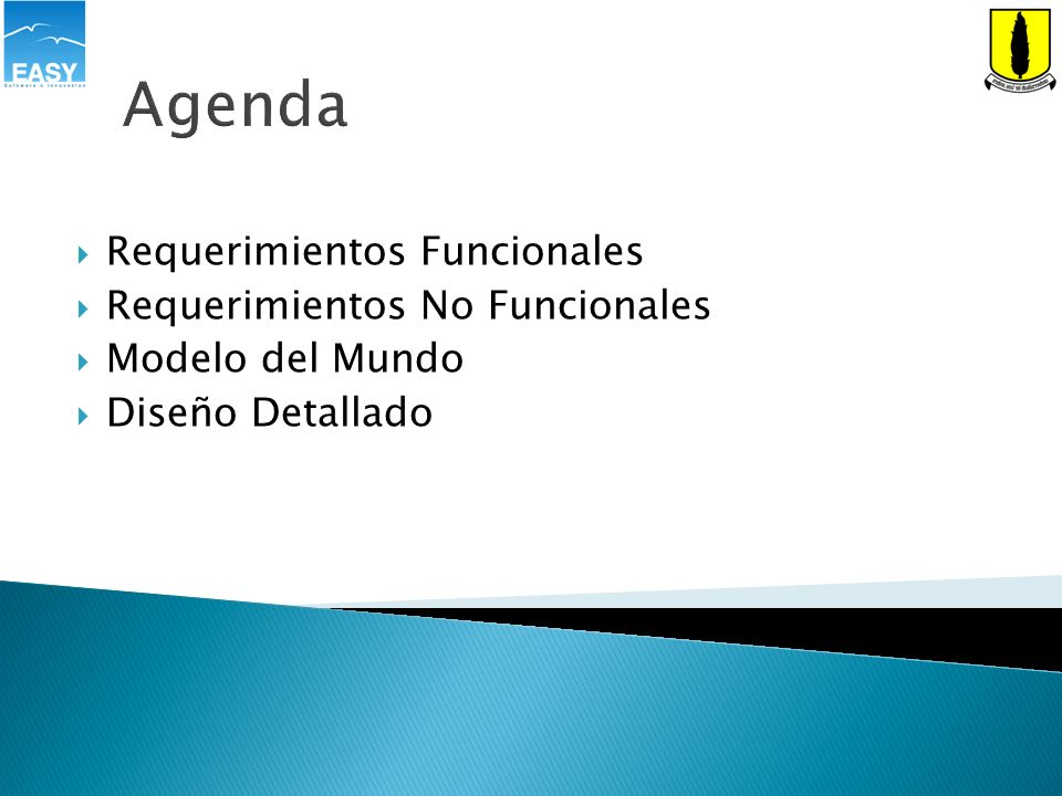 Agenda Requerimientos Funcionales Requerimientos No Funcionales