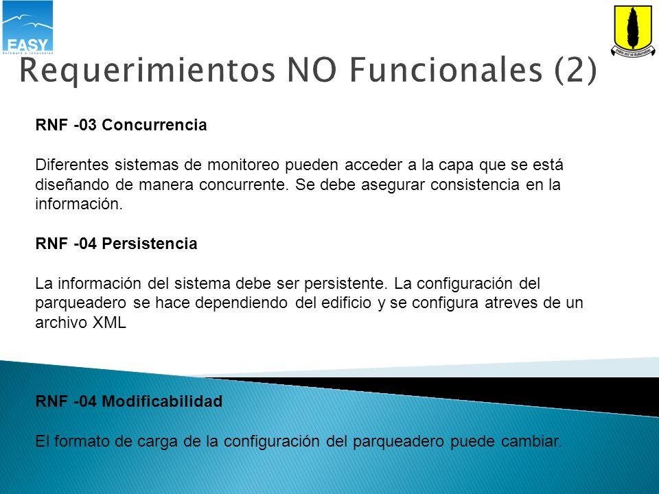 Requerimientos NO Funcionales (2)
