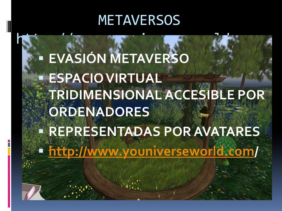 METAVERSOS http://www.youniverseworld.com/