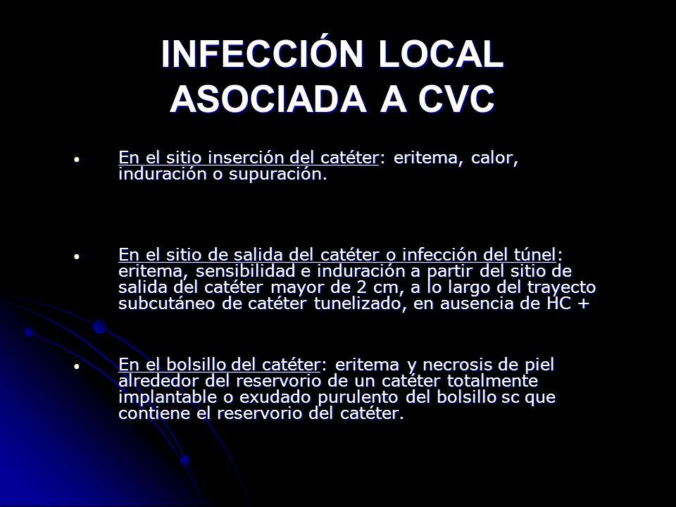 INFECCIÓN LOCAL ASOCIADA A CVC