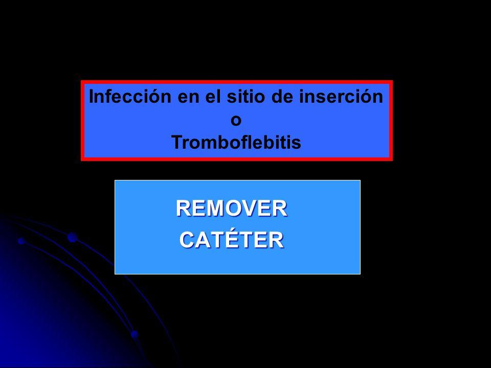 Infección en el sitio de inserción