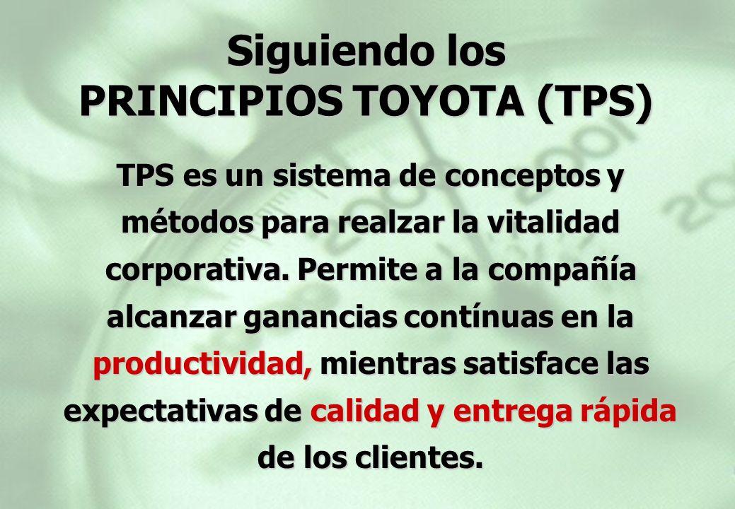 Siguiendo los PRINCIPIOS TOYOTA (TPS)