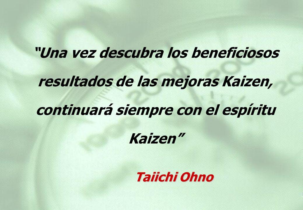 Una vez descubra los beneficiosos resultados de las mejoras Kaizen, continuará siempre con el espíritu Kaizen
