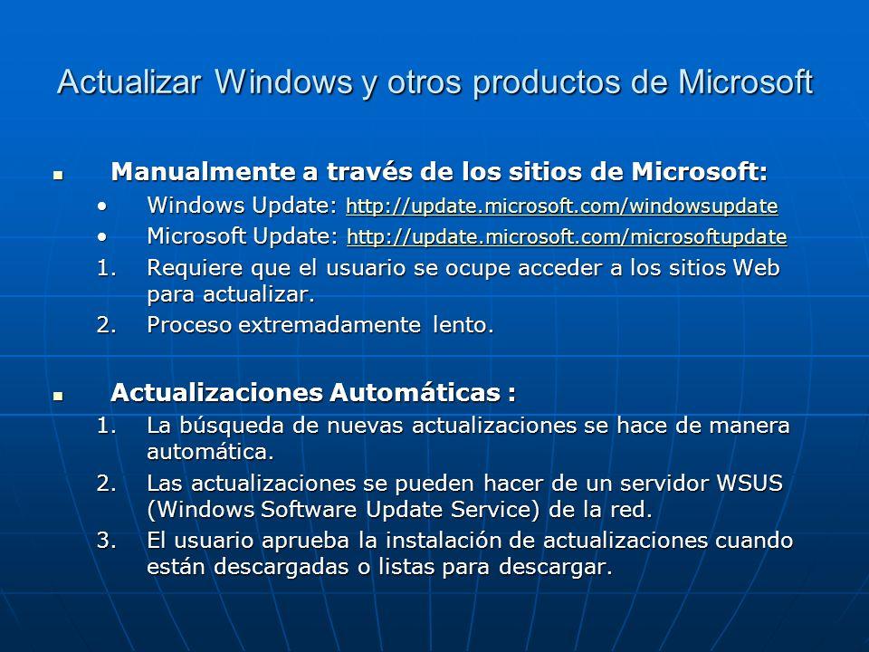 Actualizar Windows y otros productos de Microsoft