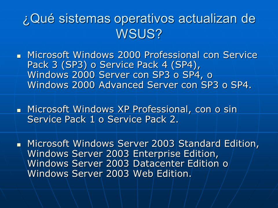 ¿Qué sistemas operativos actualizan de WSUS