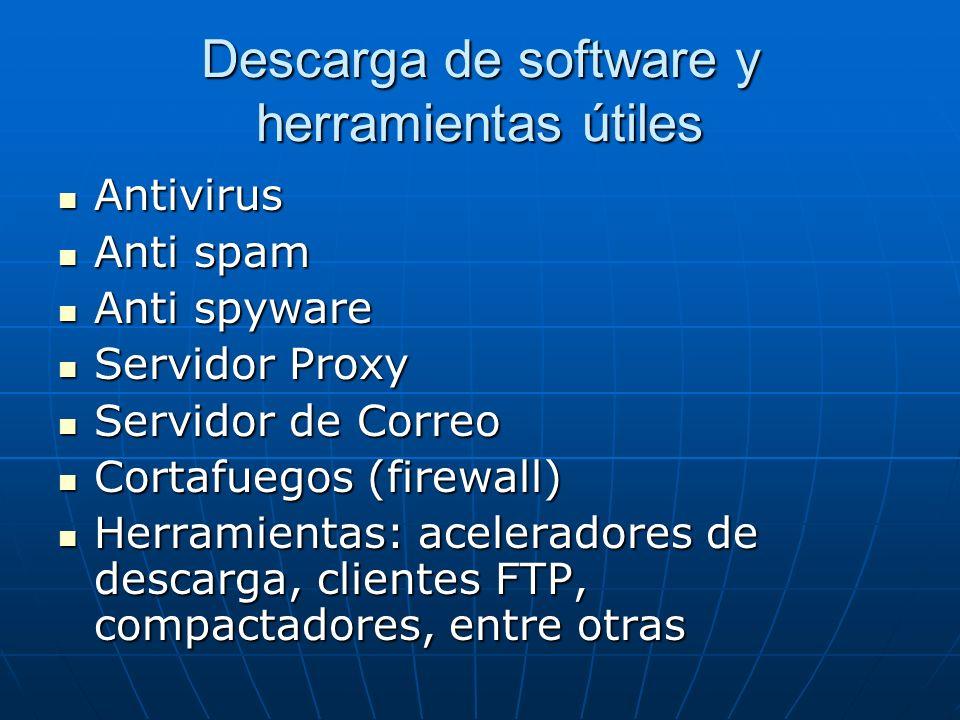 Descarga de software y herramientas útiles