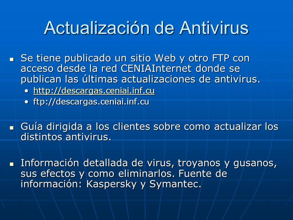 Actualización de Antivirus