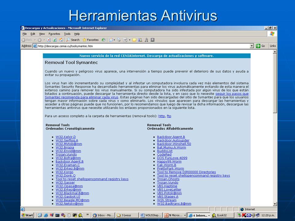 Herramientas Antivirus
