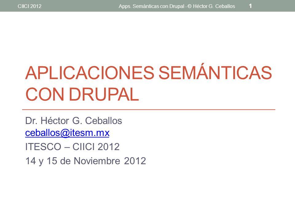 Aplicaciones semánticAS con Drupal