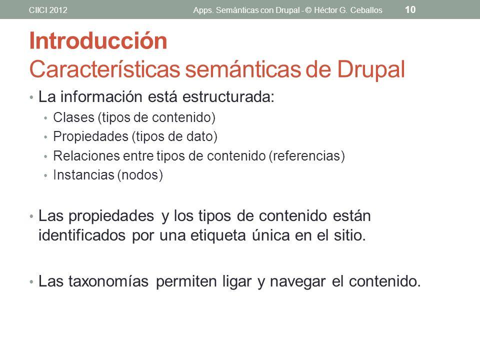 Introducción Características semánticas de Drupal