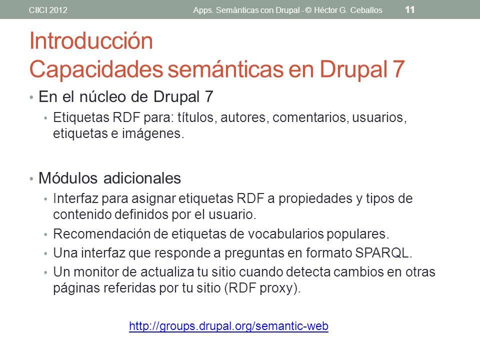 Introducción Capacidades semánticas en Drupal 7