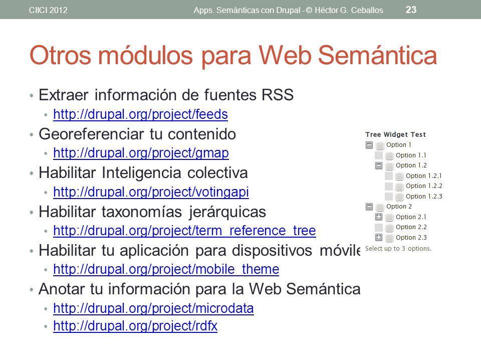 Otros módulos para Web Semántica