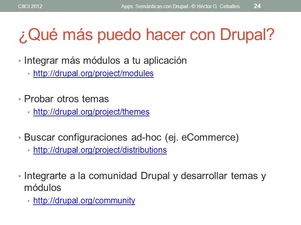 ¿Qué más puedo hacer con Drupal