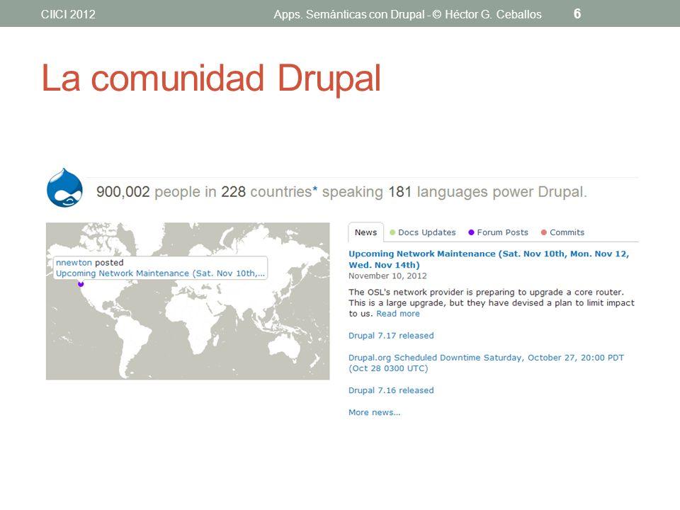 Apps. Semánticas con Drupal - © Héctor G. Ceballos