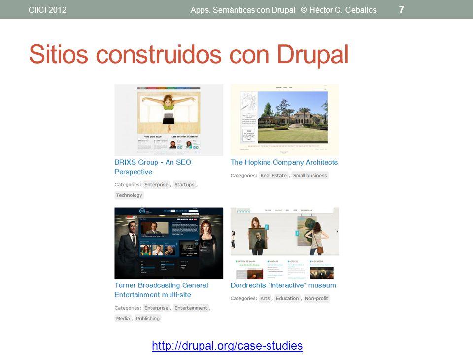 Sitios construidos con Drupal