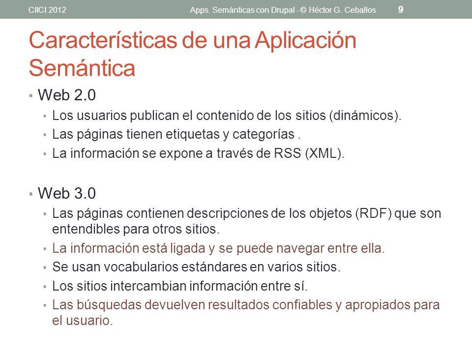 Características de una Aplicación Semántica