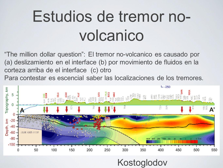 Estudios de tremor no-volcanico