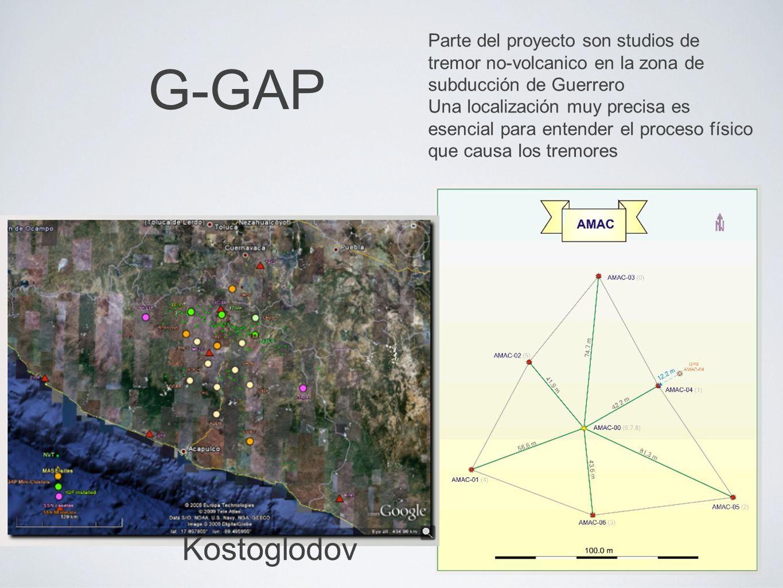 G-GAP Parte del proyecto son studios de tremor no-volcanico en la zona de subducción de Guerrero.