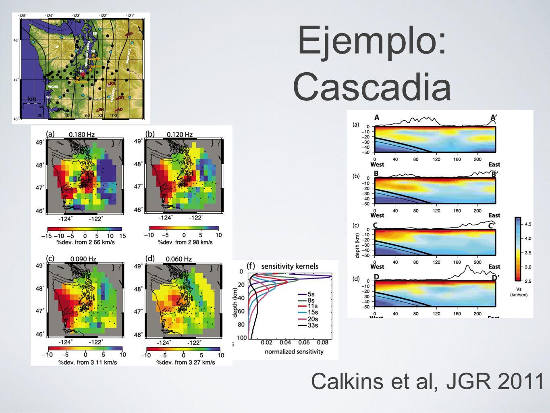 Ejemplo: Cascadia Calkins et al, JGR 2011