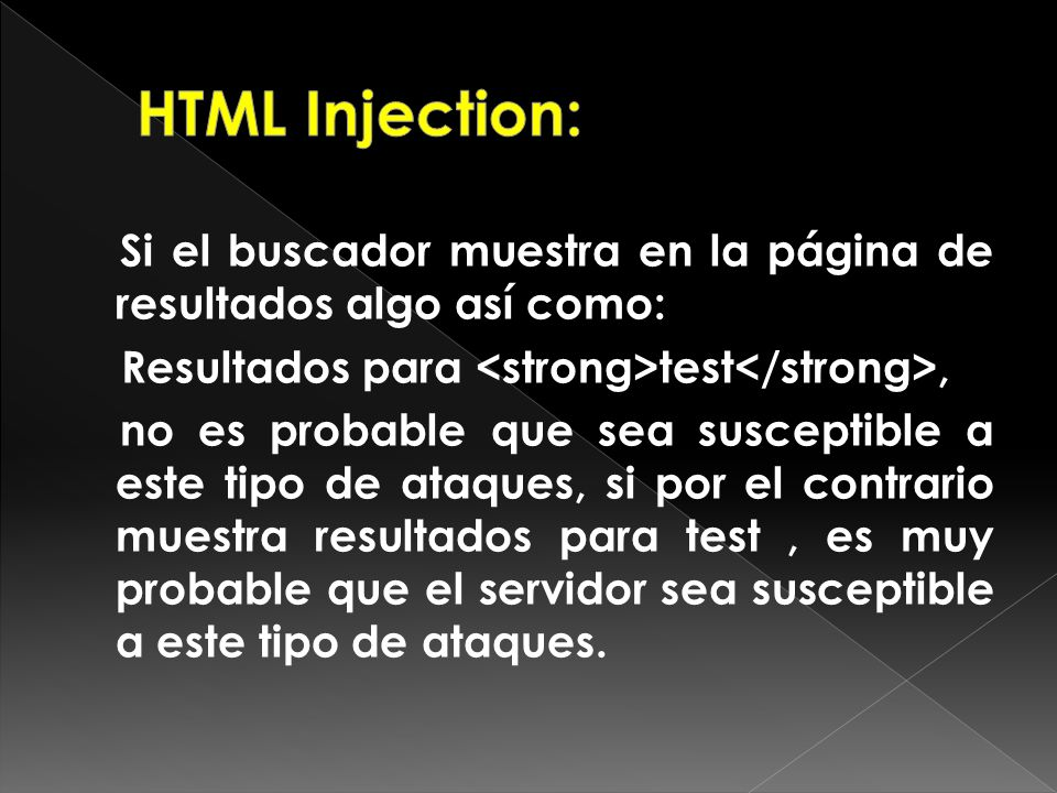 HTML Injection: