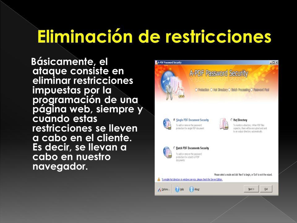 Eliminación de restricciones