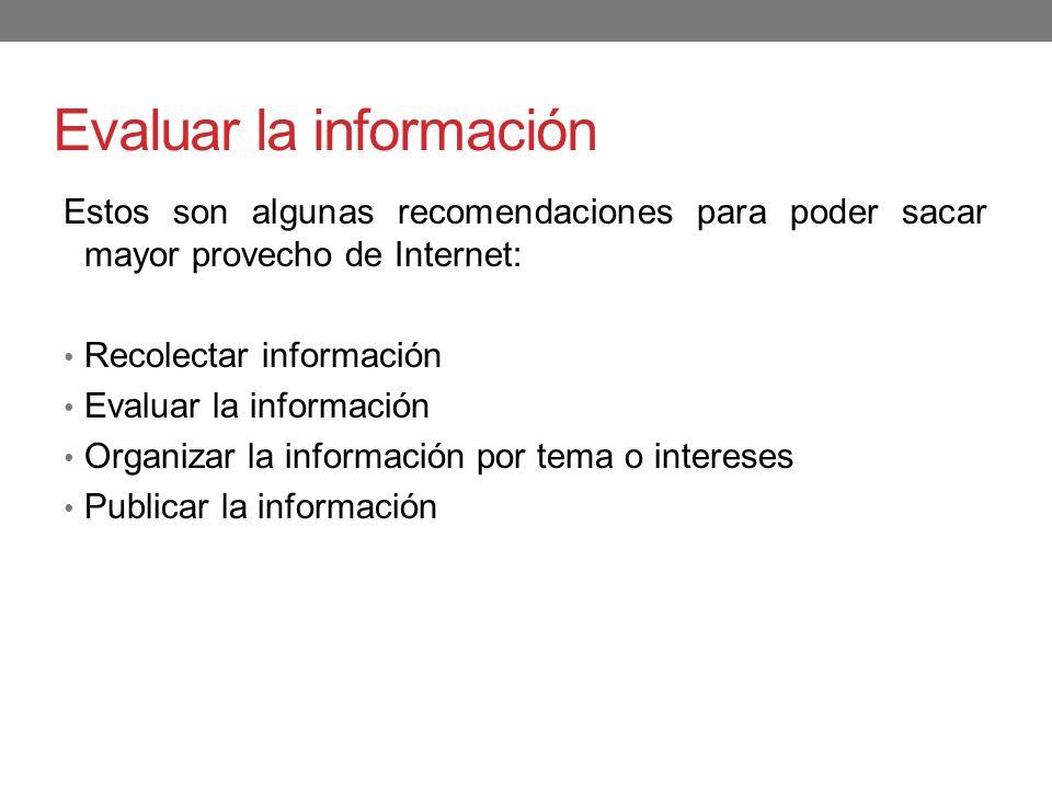 Evaluar la información