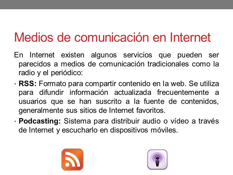 Medios de comunicación en Internet