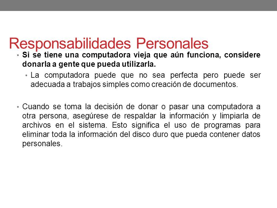 Responsabilidades Personales