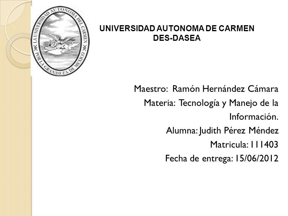 UNIVERSIDAD AUTONOMA DE CARMEN
