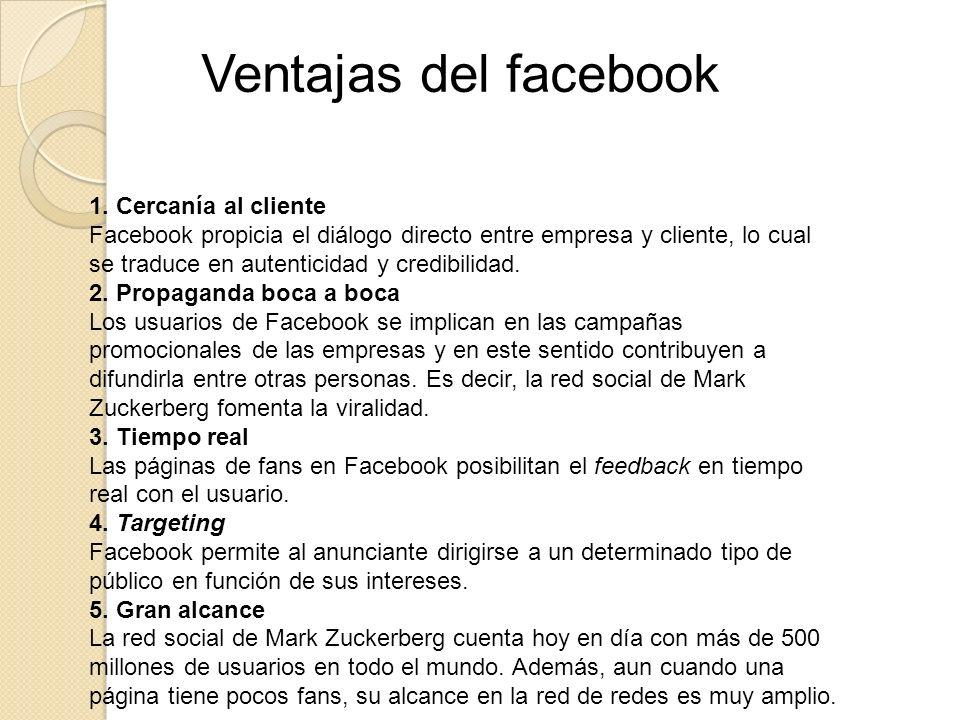 Ventajas del facebook