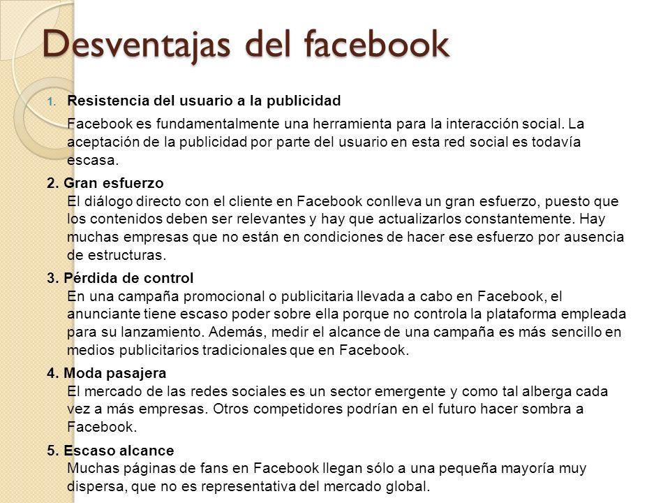Desventajas del facebook