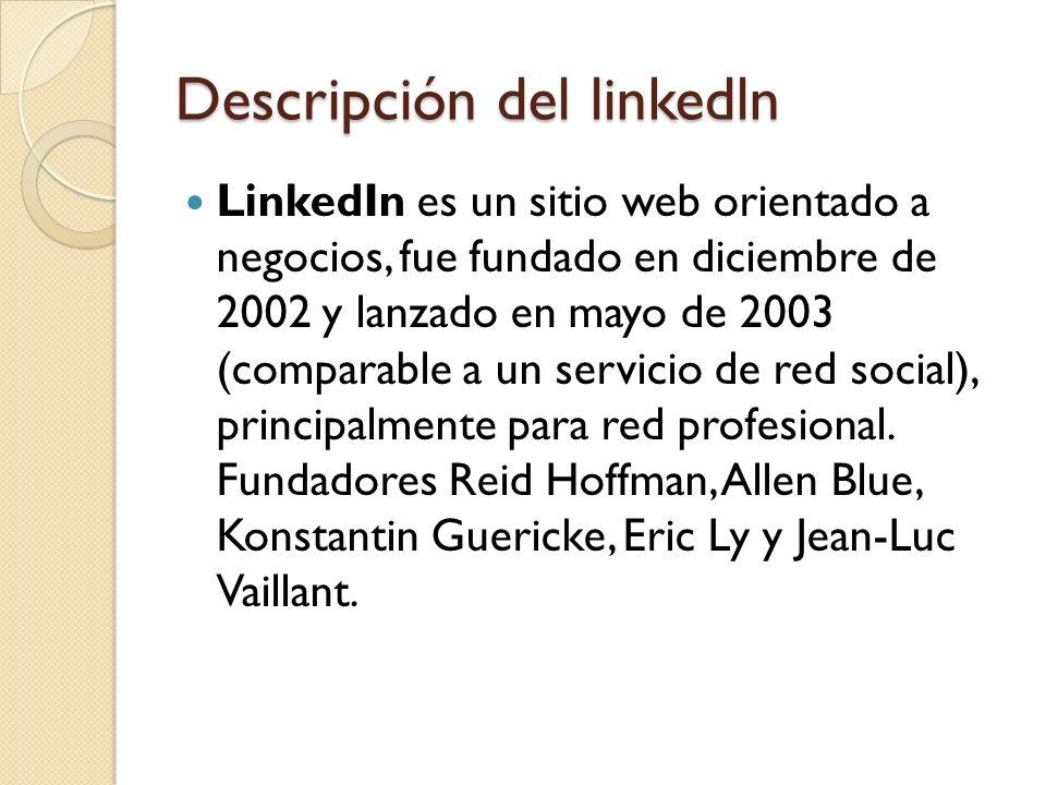 Descripción del linkedln