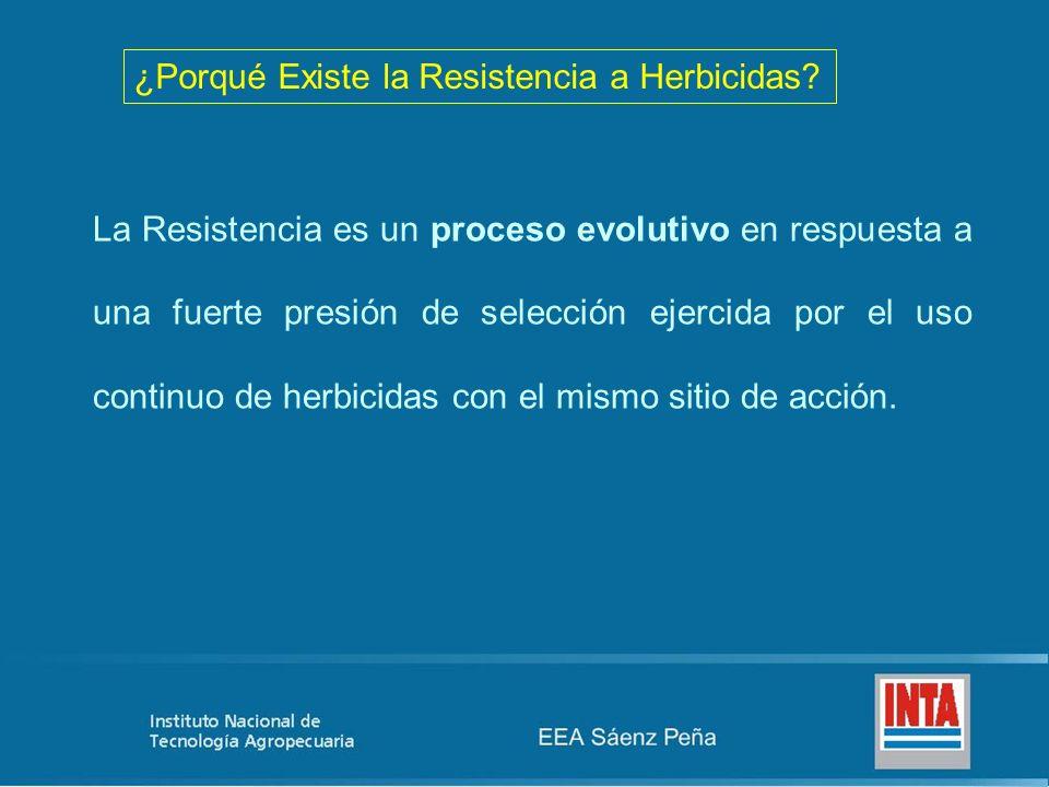 ¿Porqué Existe la Resistencia a Herbicidas