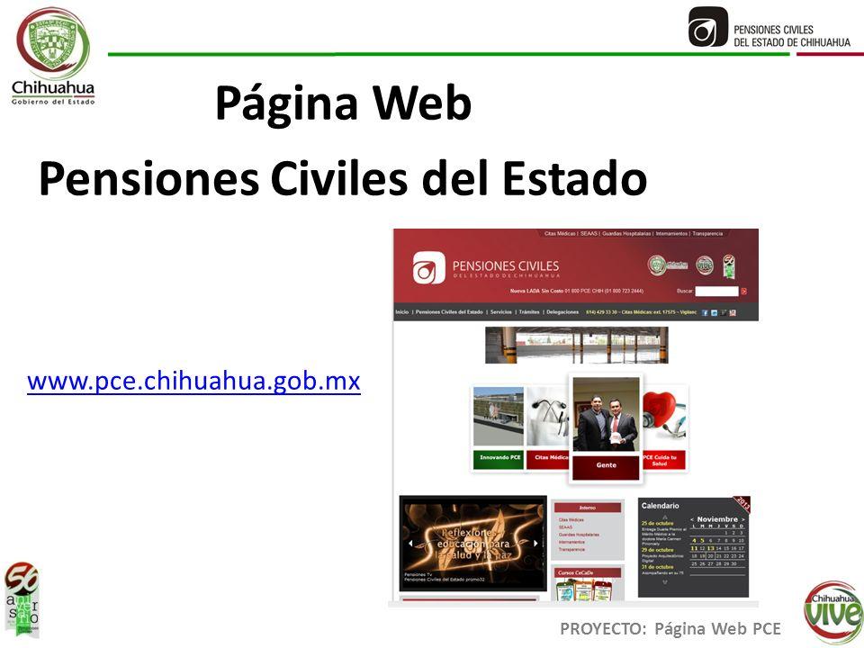 Pensiones Civiles del Estado PROYECTO: Página Web PCE