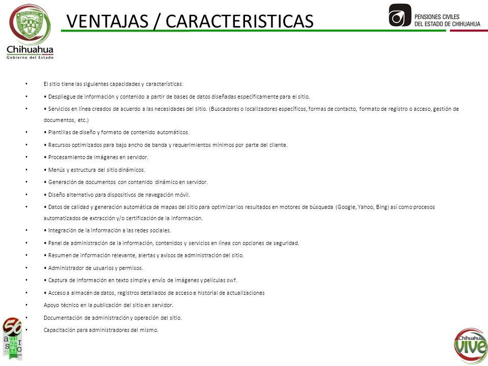 VENTAJAS / CARACTERISTICAS