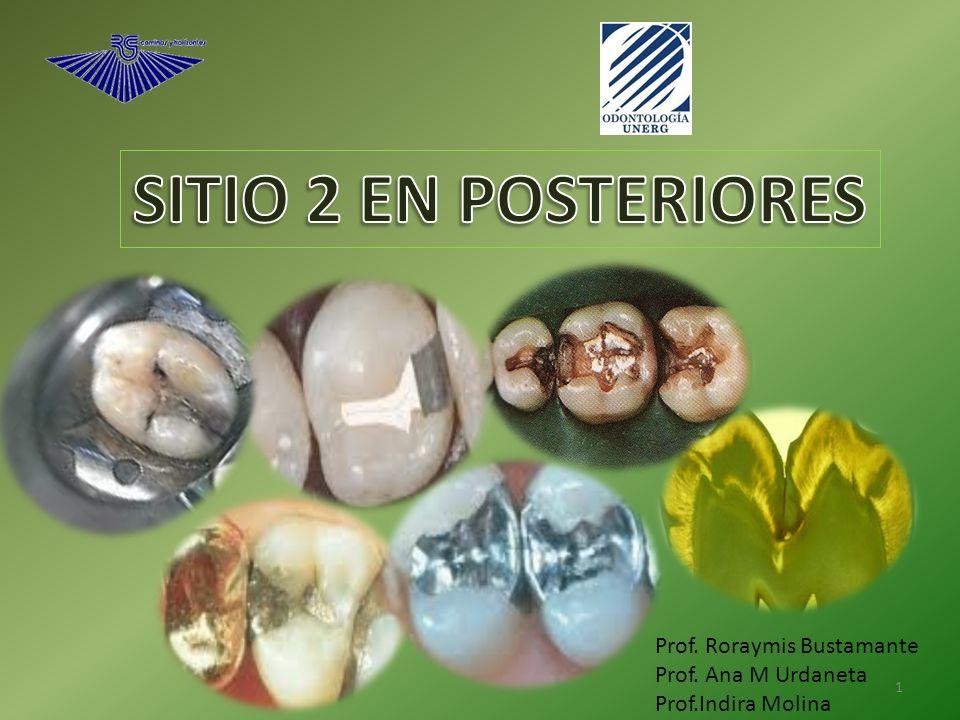 SITIO 2 EN POSTERIORES Prof. Roraymis Bustamante Prof. Ana M Urdaneta